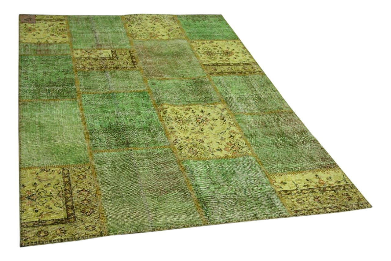 Patchwork vloerkleed groen 230cm x 160cm nr23223
