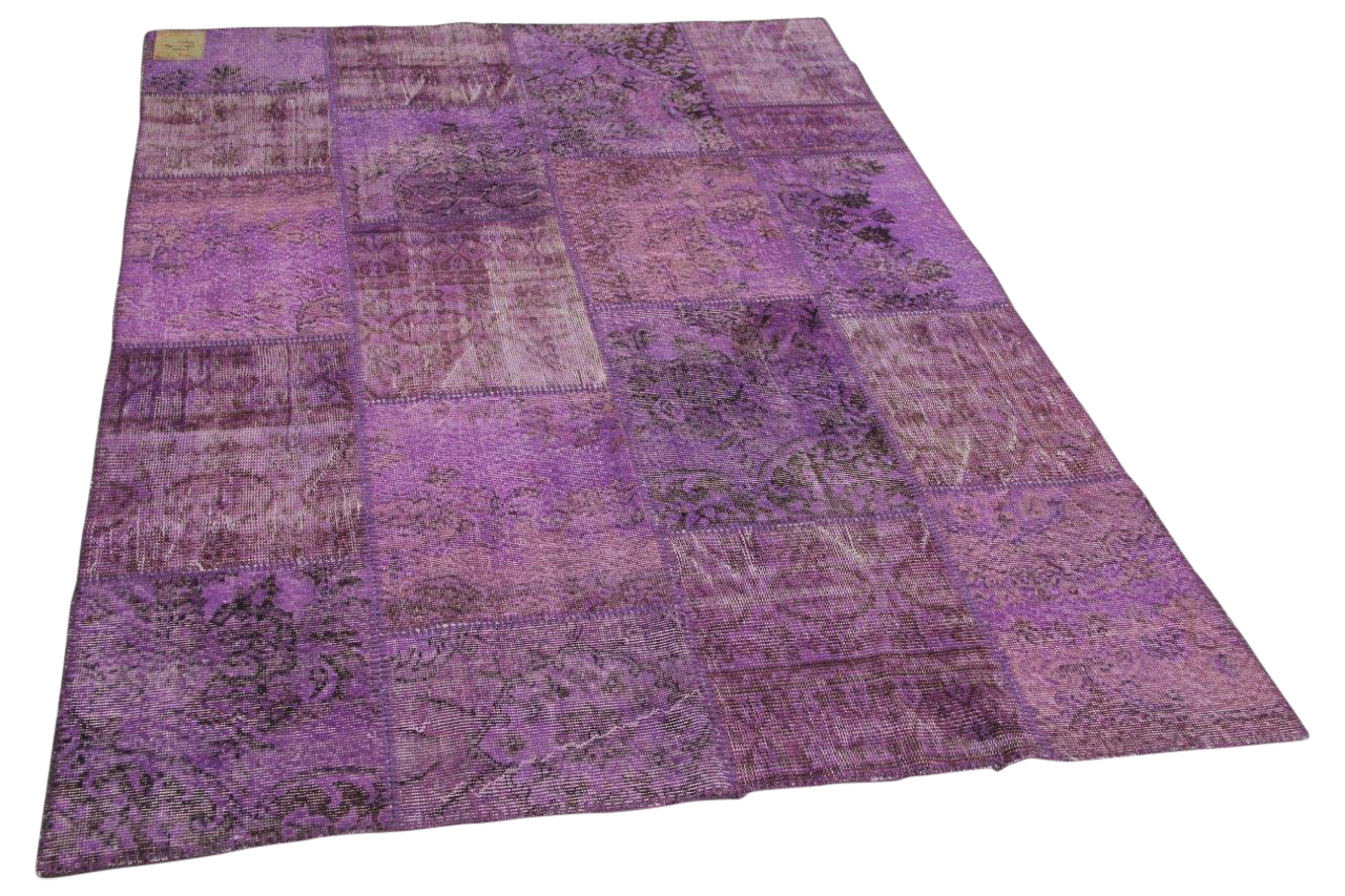 patchwork vloerkleed paars 230cm x 160cm nr22231