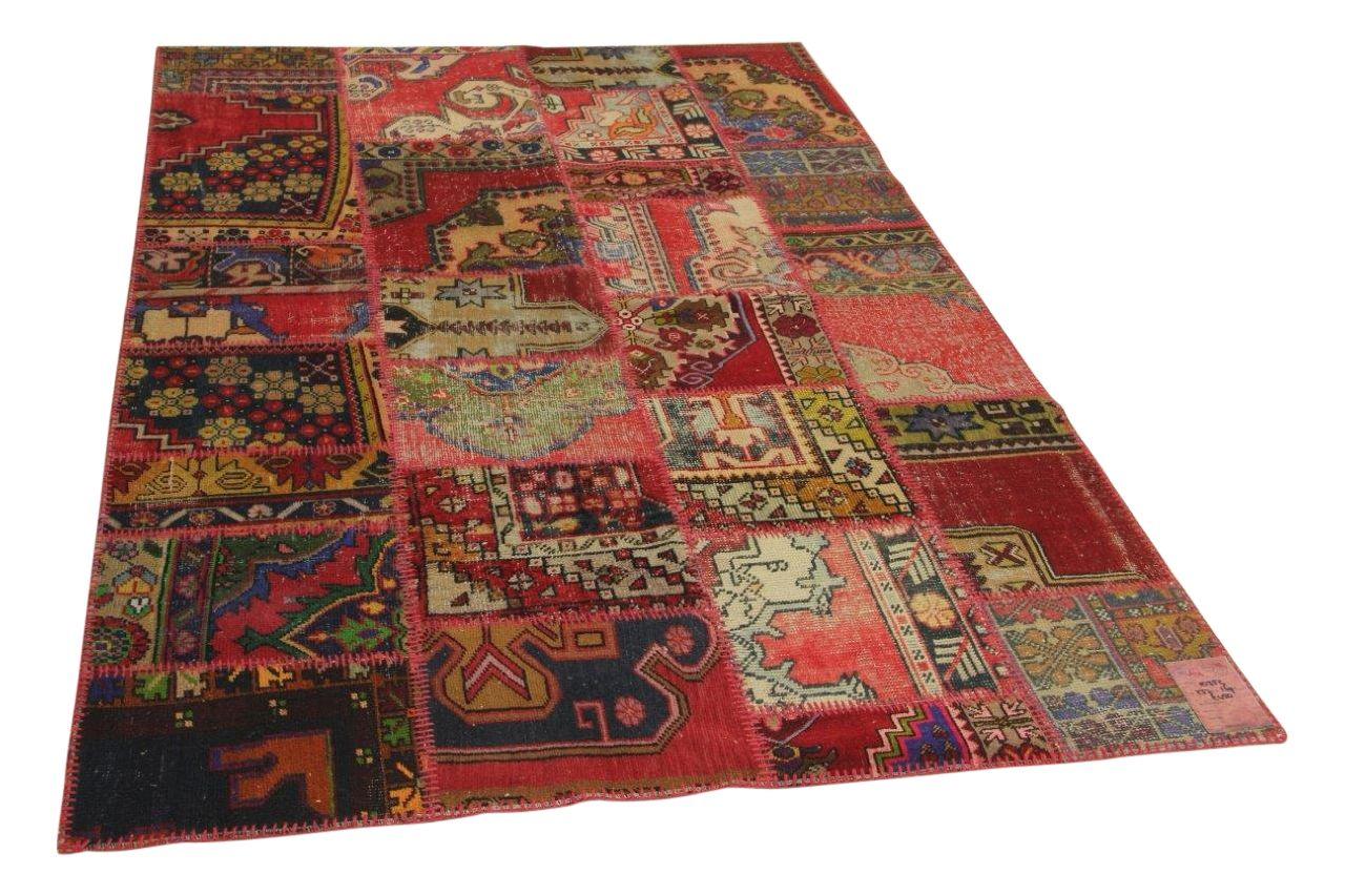 Patchwork vloerkleed rood 237cm x 169cm nr10352