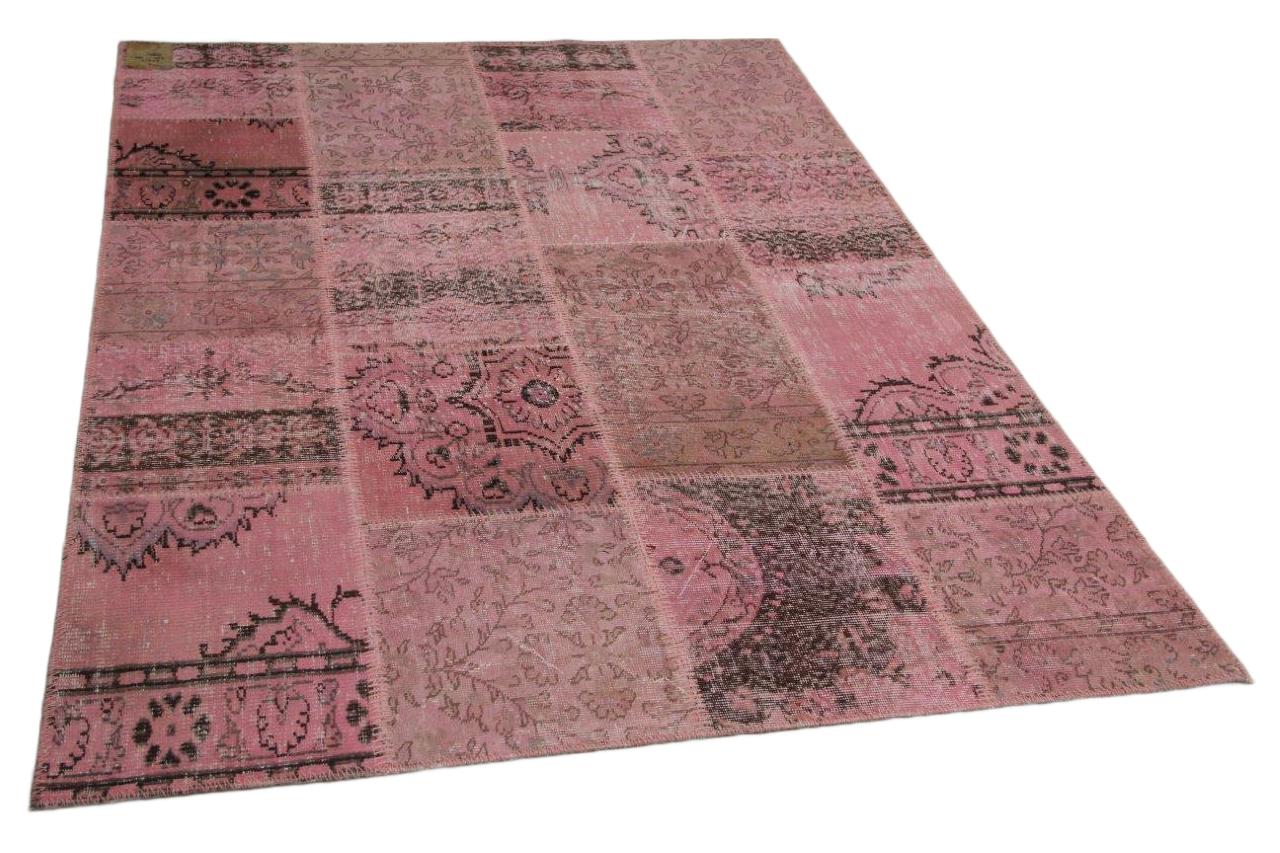 Patchwork vloerkleed roze 240cm x 170cm nr23213