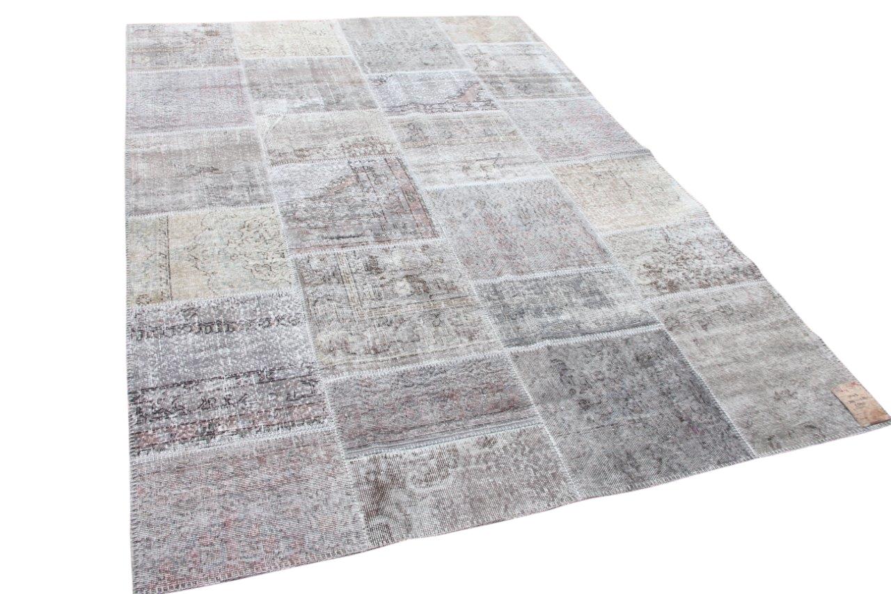 Patchwork vloerkleed grijs 10143 300cm x 200cm