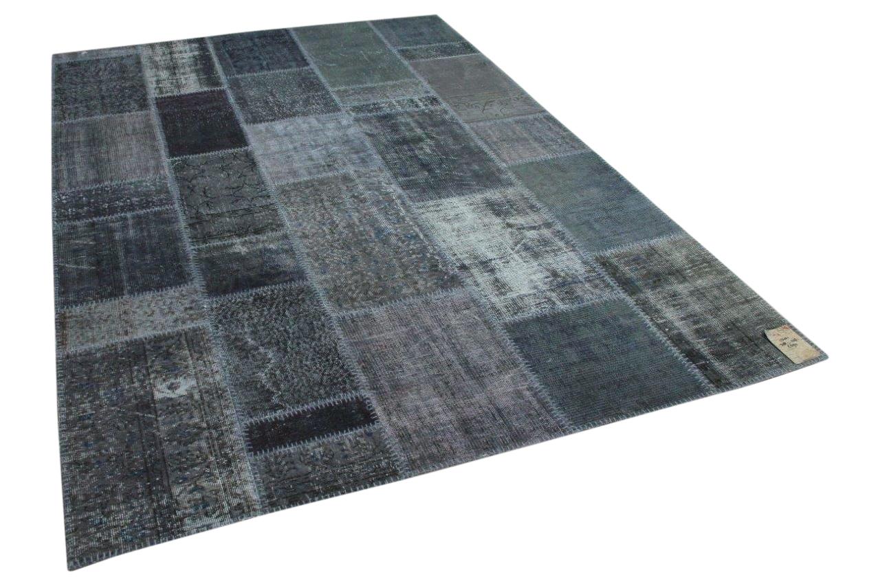 Patchwork vloerkleed grijs 13421