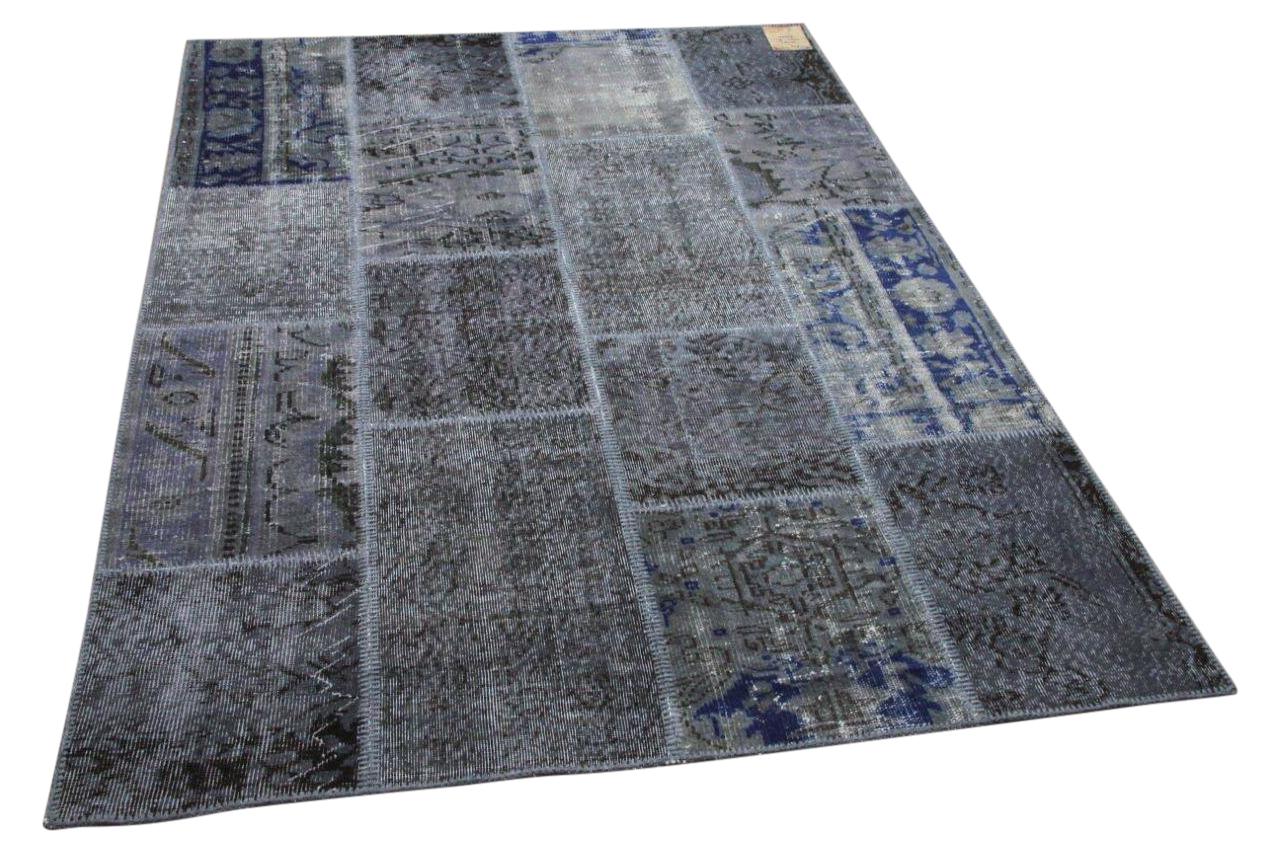 Patchwork vloerkleed grijs nr.35401 230cm x 161cm