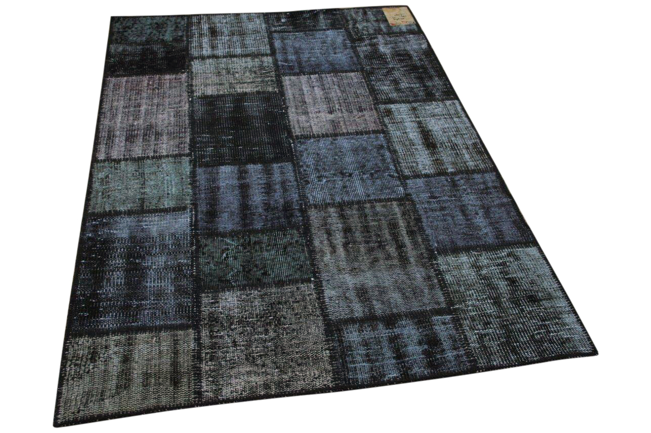 patchwork vloerkleed zwart 35569