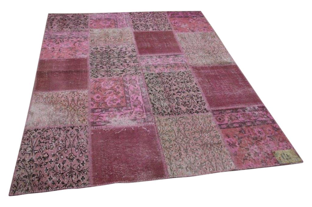 patchwork vloerkleed roze 235cm x 163cm nr37421
