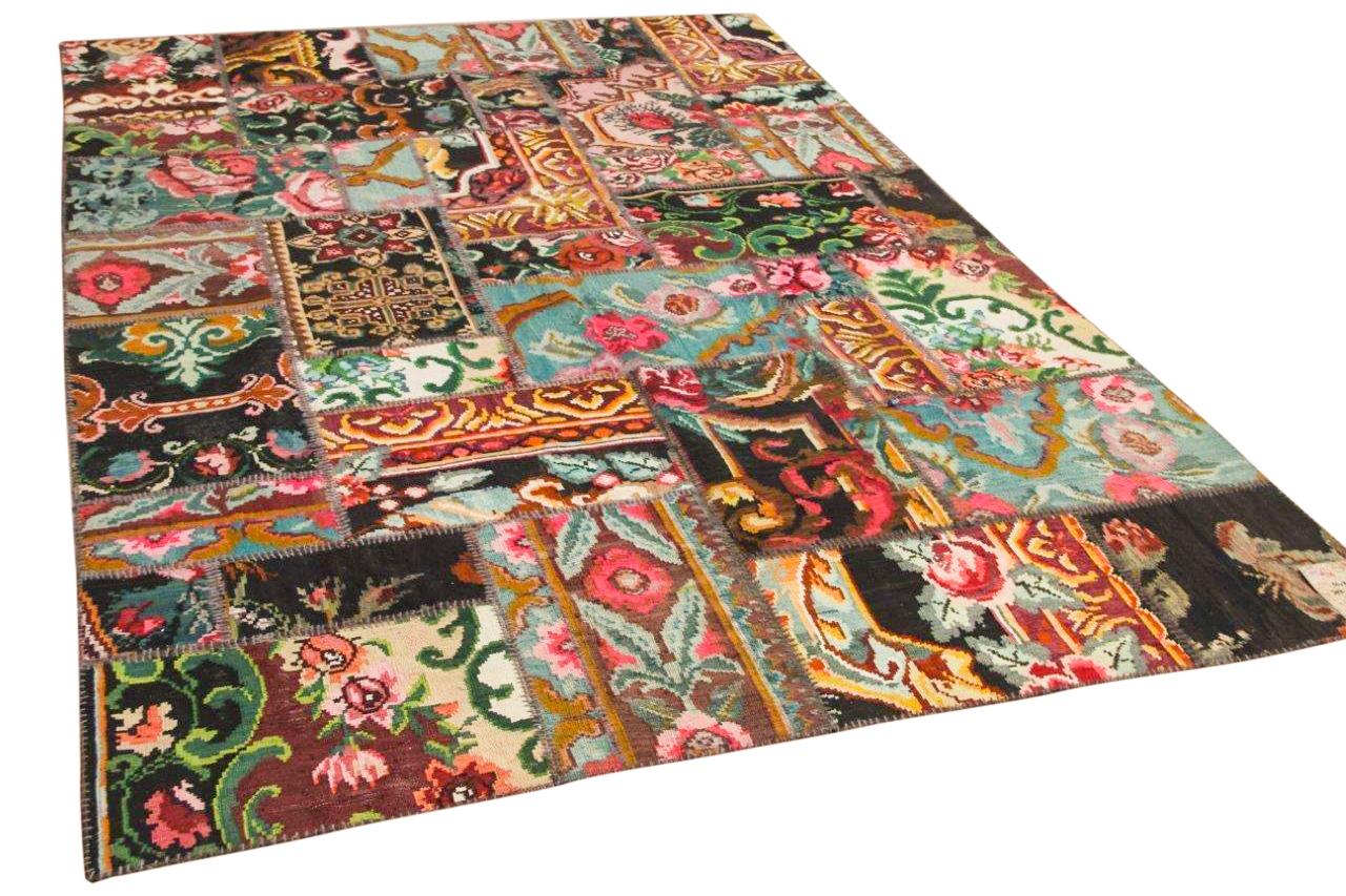 Rozenkelim patchwork 302cm x 200cm