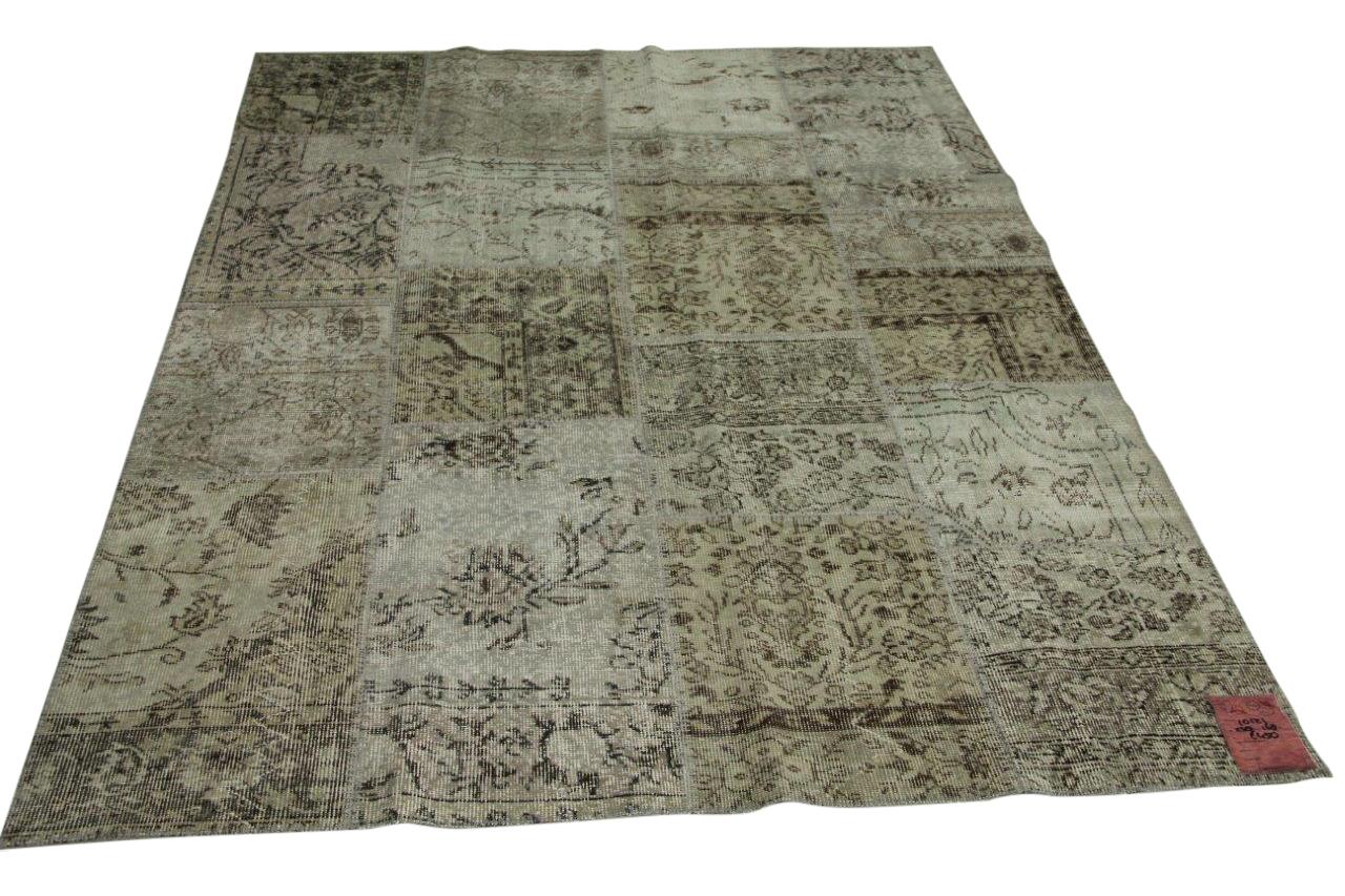 Licht grijs patchwork vloerkleed 238cm x 168cm nr10121