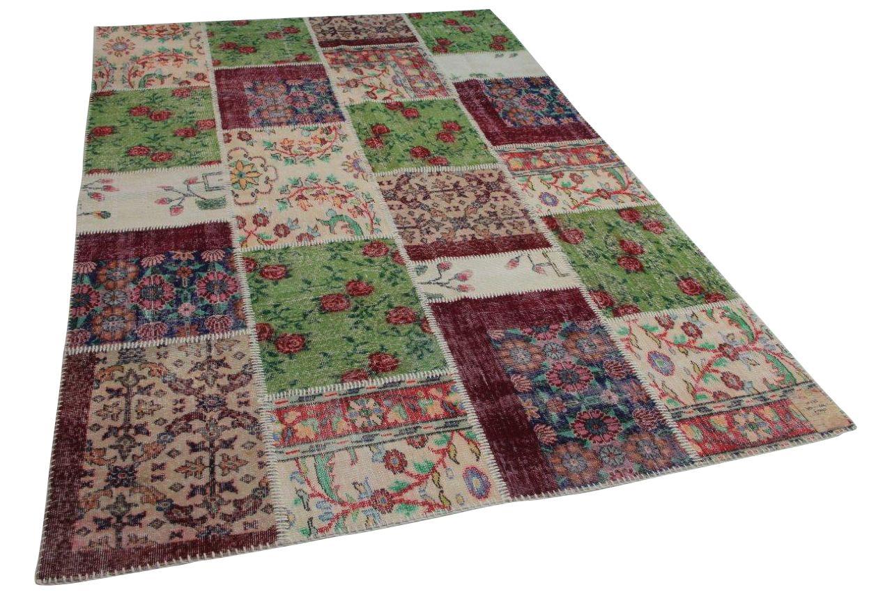 Patchwork vloerkleed met diverse kleuren