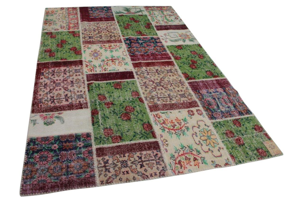 Patchwork vloerkleed met meerdere kleuren 10183