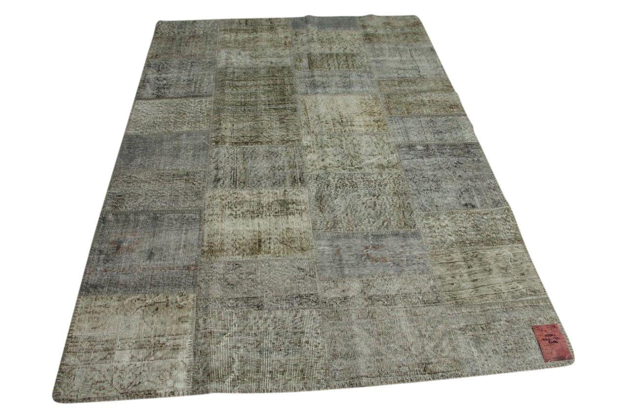 Licht grijs patchwork vloerkleed 241cm x 172cm nr10321