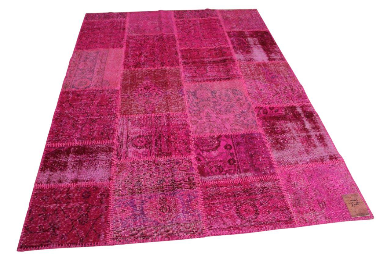 roze patchwork vloerkleed 240cm x 170cm nr10342
