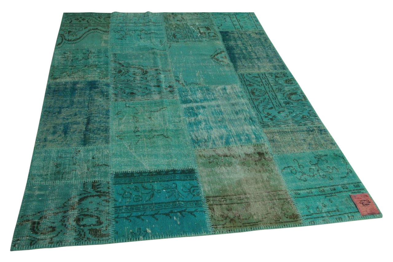 Blauw patchwork vloerkleed 240cm x 170cm nr10347