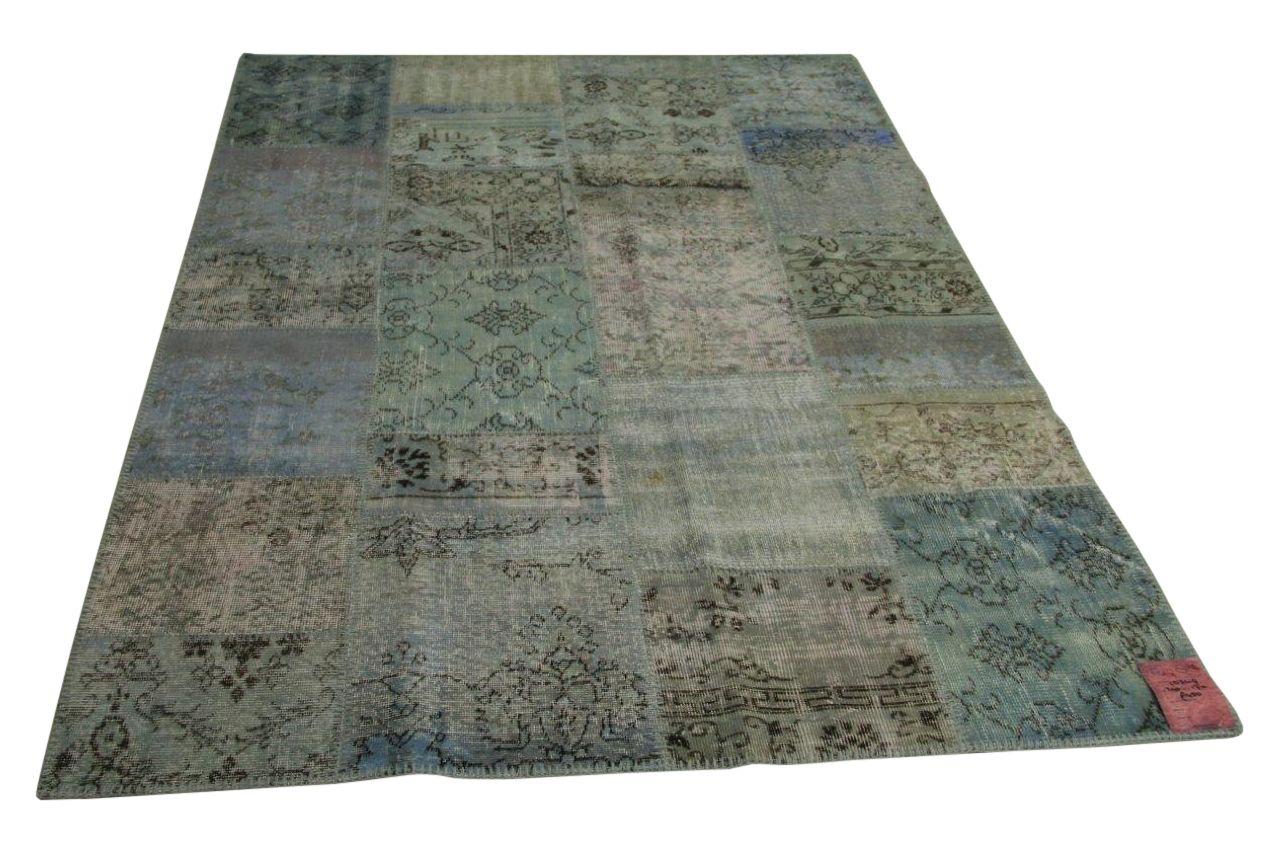 Blauw patchwork vloerkleed 240cm x 170cm nr10349