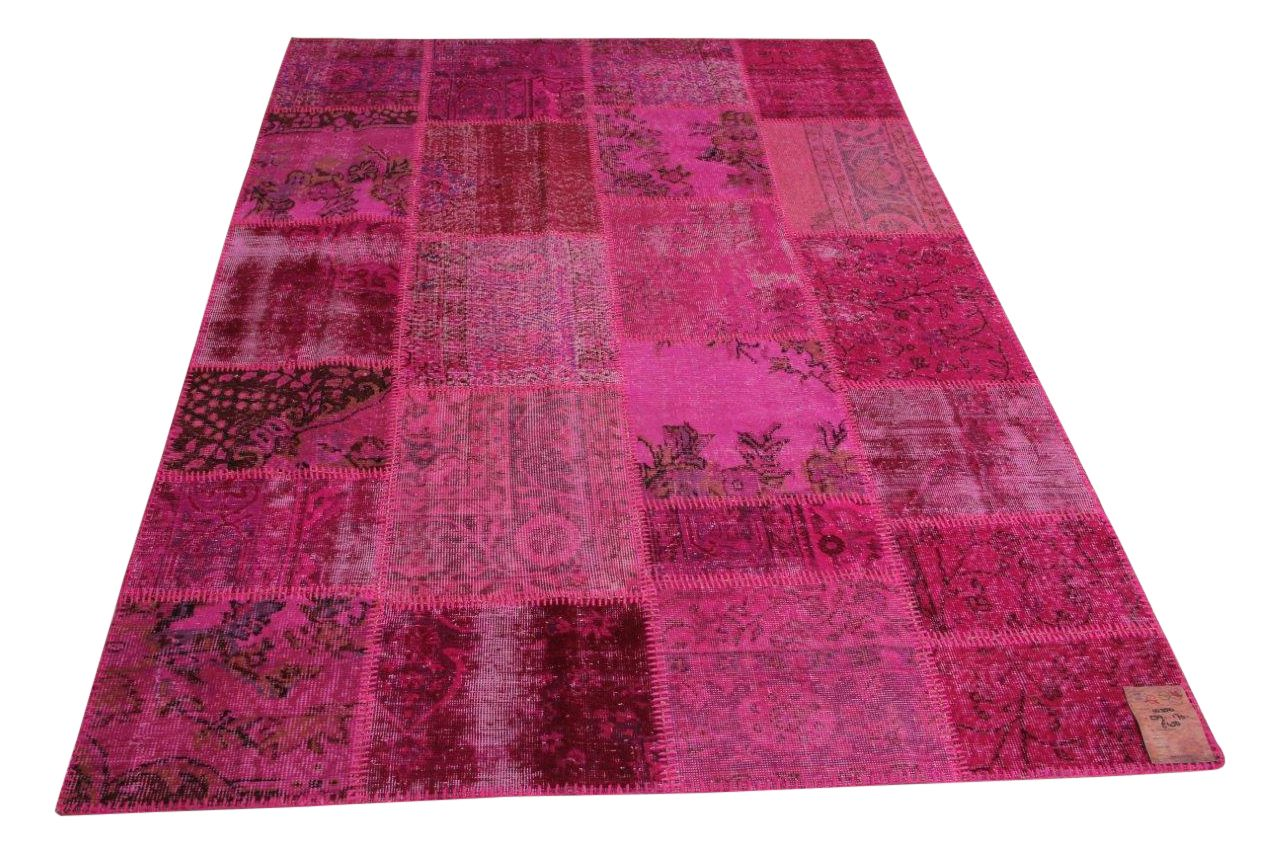 Roze patchwork vloerkleed 239cm x 170cm nr10350