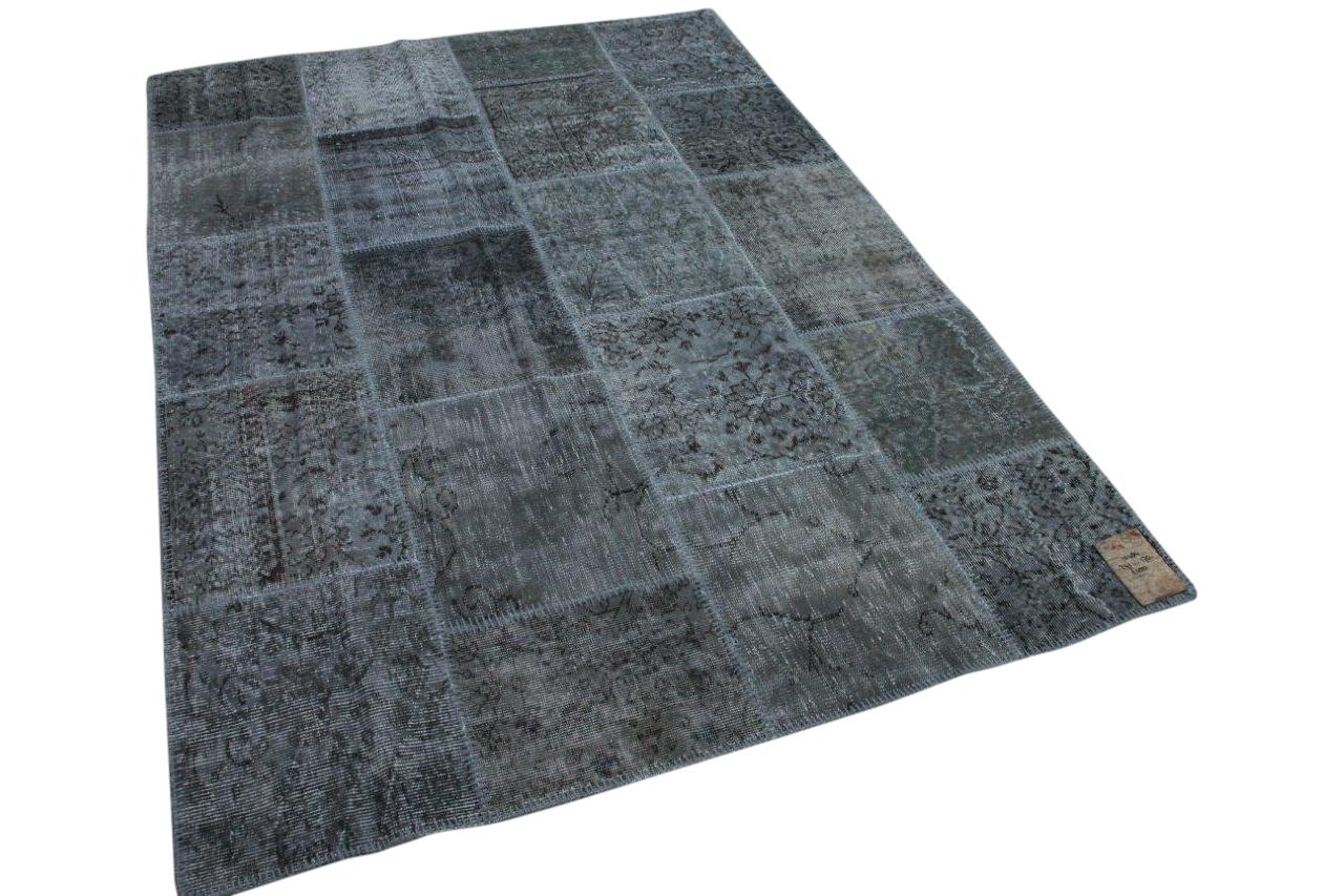 Patchwork vloerkleed grijs 10484 241cm x 170cm