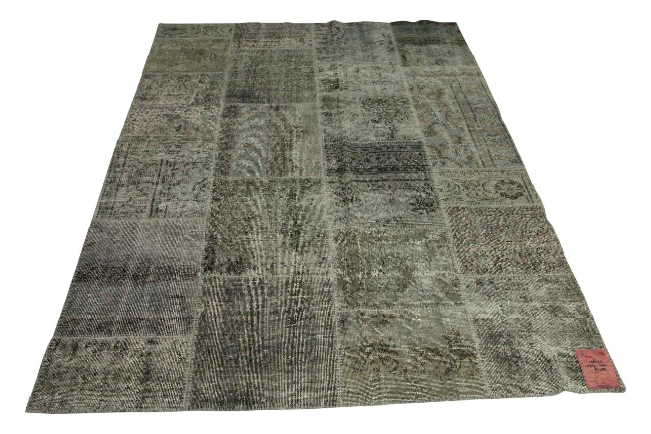 Grijs patchwork vloerkleed 239cm x 170cm nr10672