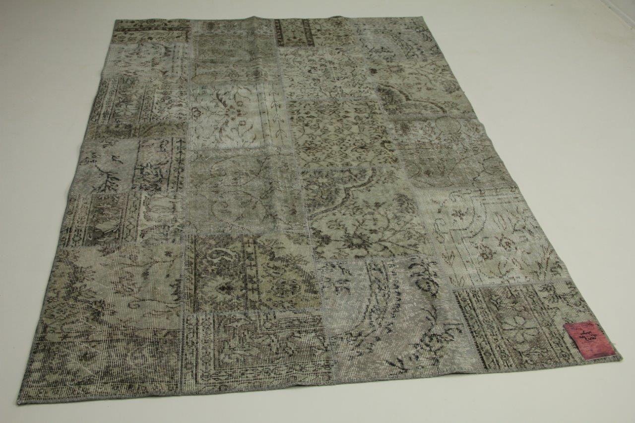 Grijs patchwork vloerkleed 240cm x 170cm nr10675