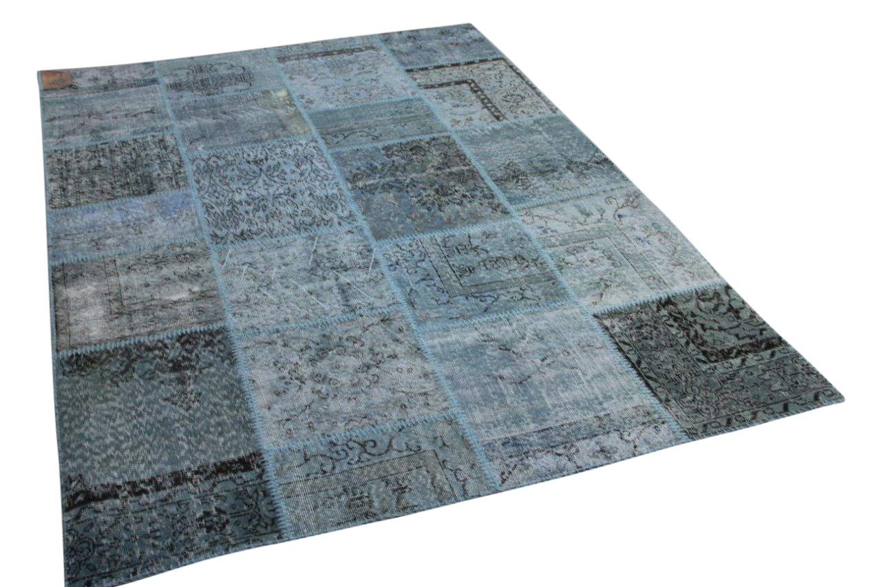 Patchwork aquablauw