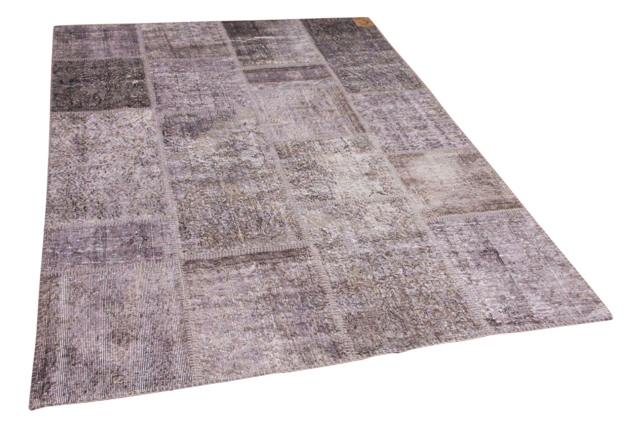 Patchwork vloerkleed grijs 10775 240cm x 170cm