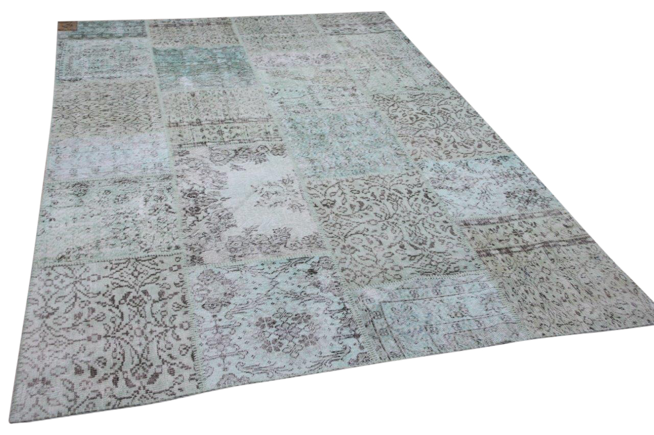 patchwork vloerkleed groen nr.11485 300cm x 200cm