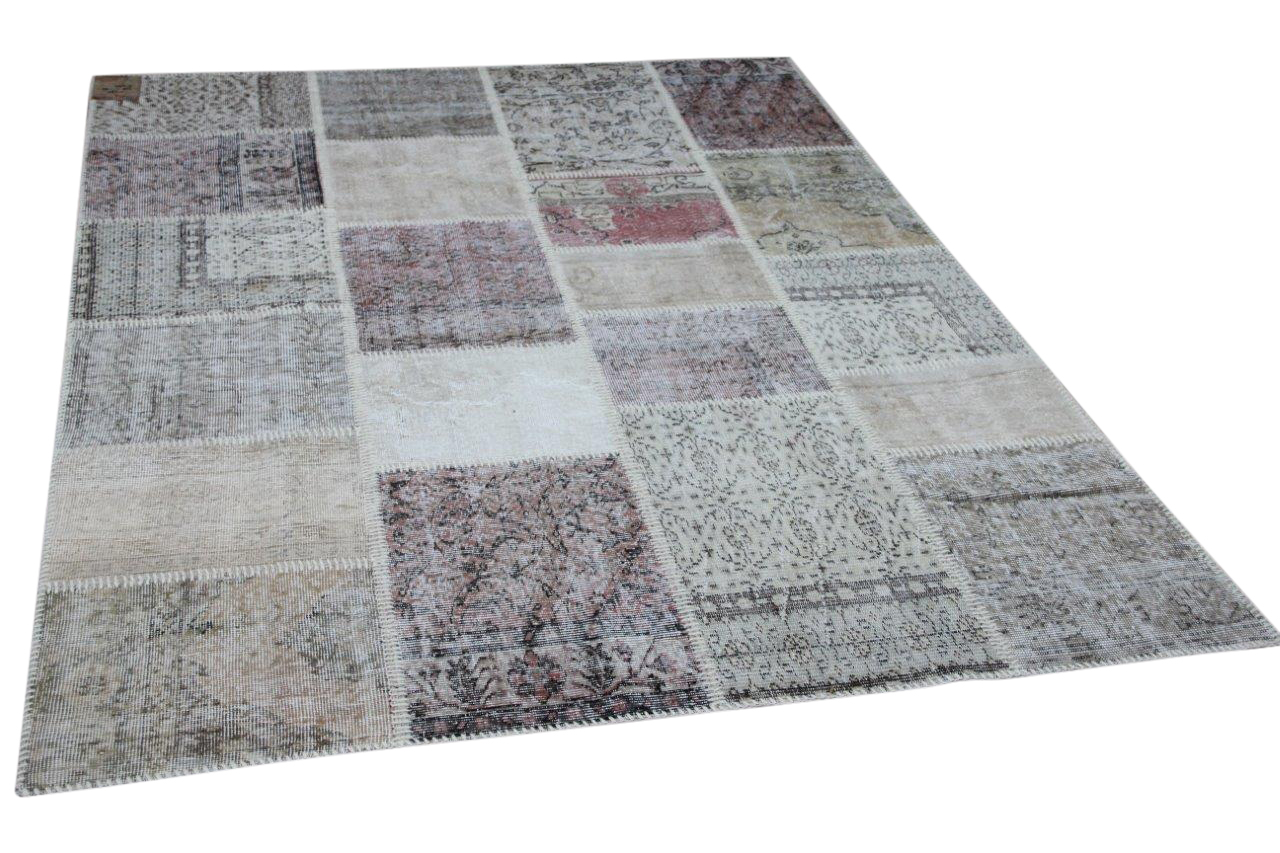 patchwork vloerkleed beige nr.11490 240cm x 170cm
