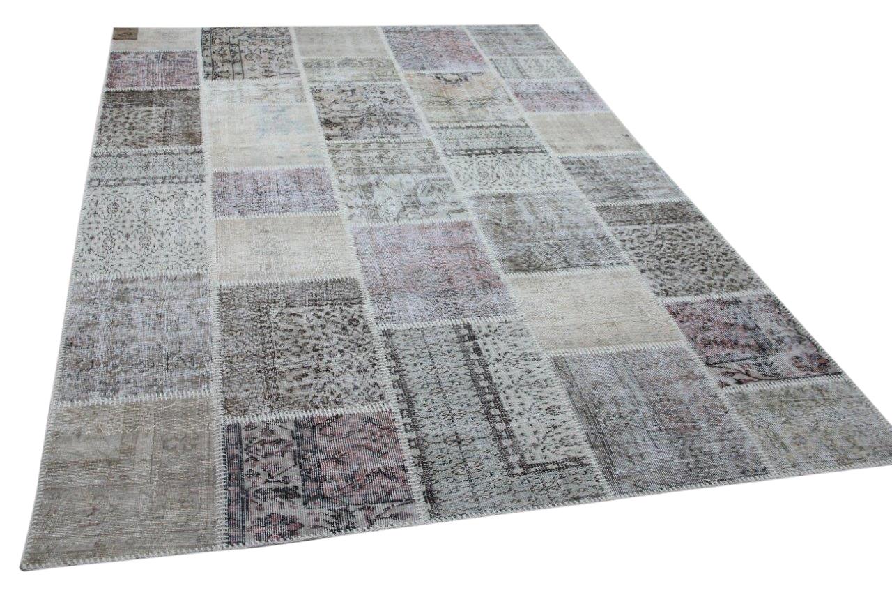 patchwork vloerkleed beige nr.11492 300cm x 200cm