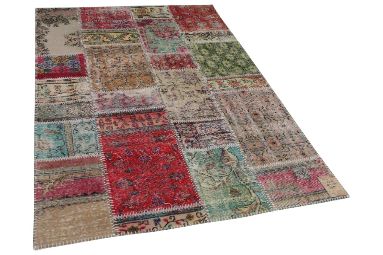 Patchwork vloerkleed met diverse kleuren 232cm x 160cm