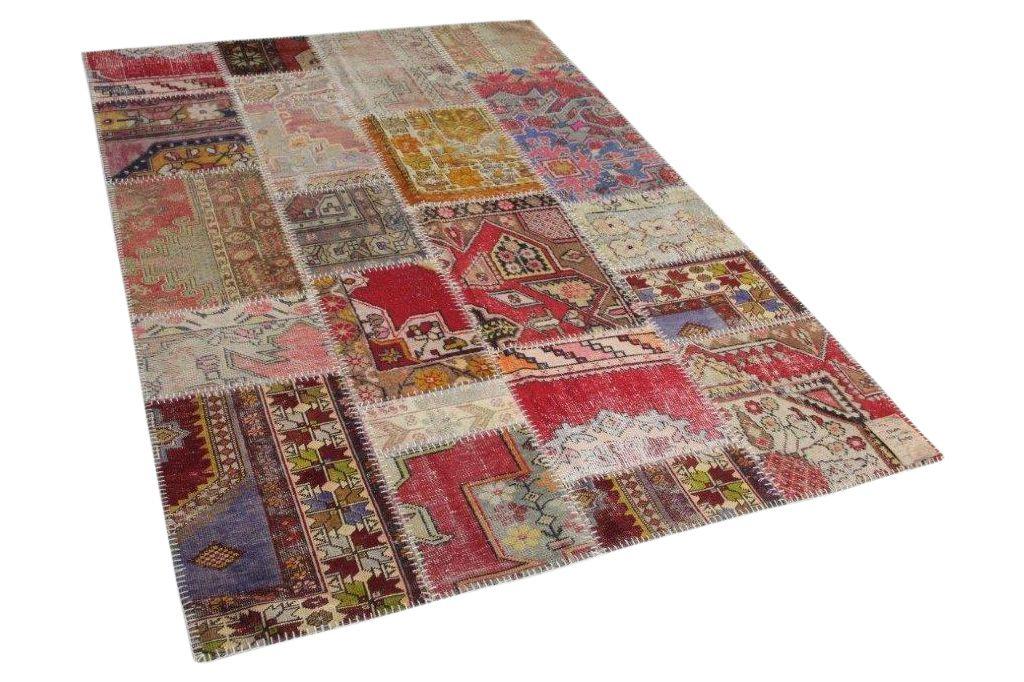 patchwork vloerkleed in diverse kleuren 247cm x 170cm