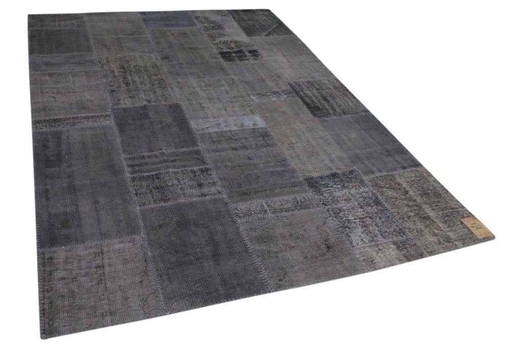 Patchwork vloerkleed grijs 300cm x 214cm