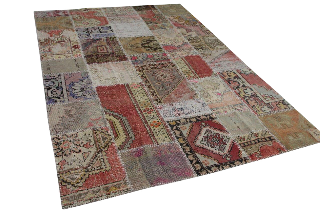 Patchwork vloerkleed  diverse kleuren  303cm x 214cm