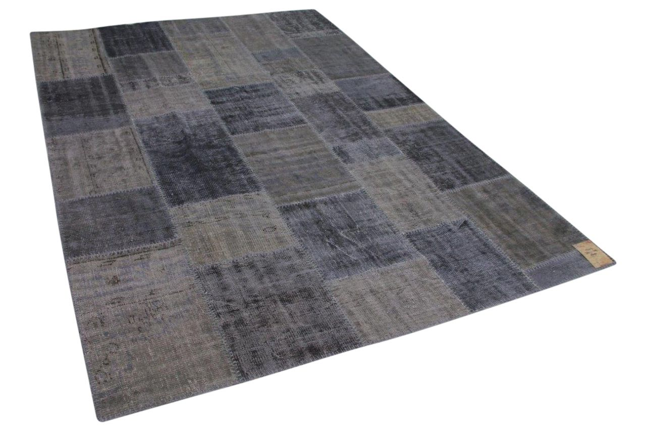 Patchwork vloerkleed grijs 302cm x 209cm 13413