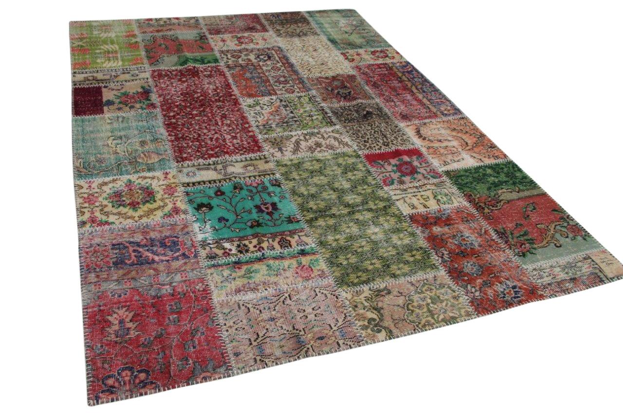 Patchwork vloerkleed  diverse kleuren  306cm x 212cm