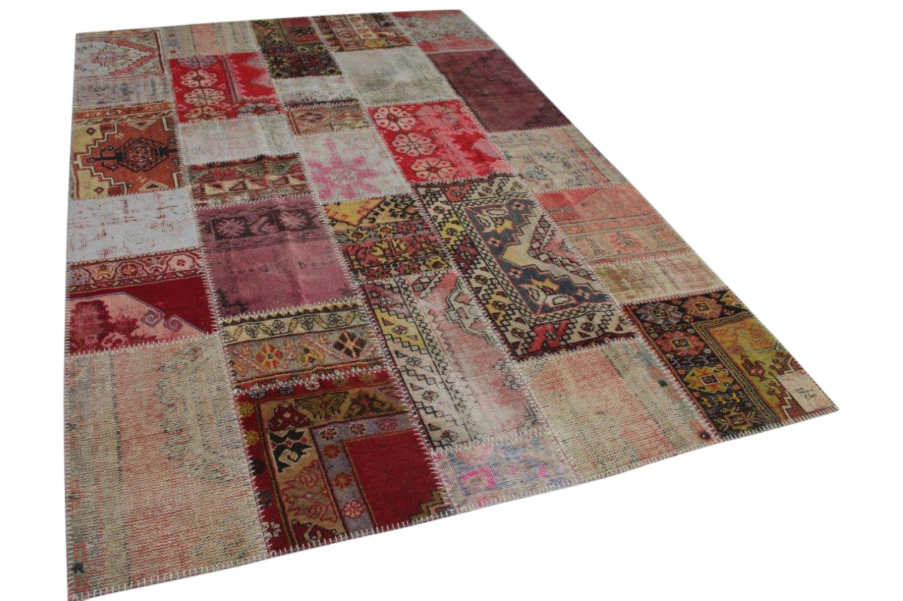 Patchwork vloerkleed  diverse kleuren  308cm x 212cm