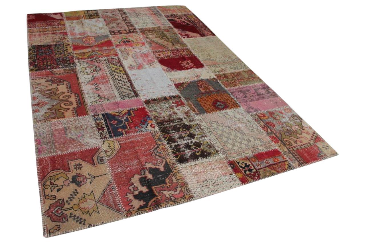patchwork vloerkleed  diverse kleuren  309cm x 209cm