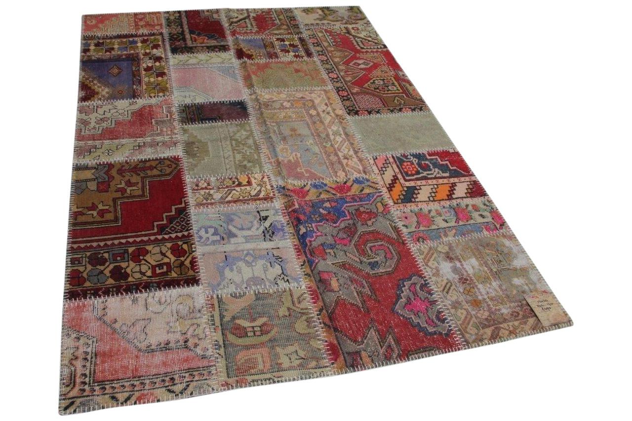 Patchwork vloerkleed, diverse kleuren, 242cm x 170cm
