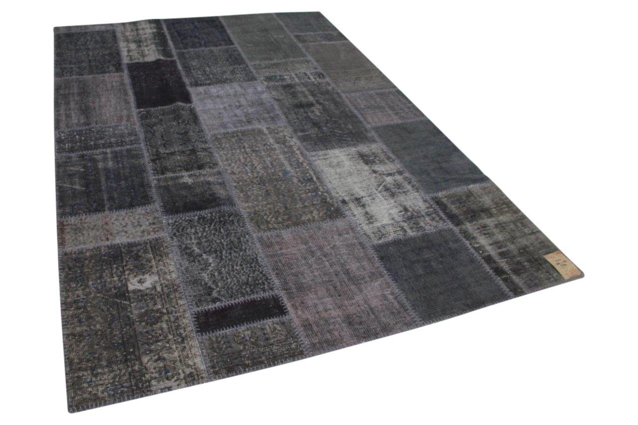 patchwork vloerkleed grijs 308cm x 208cm