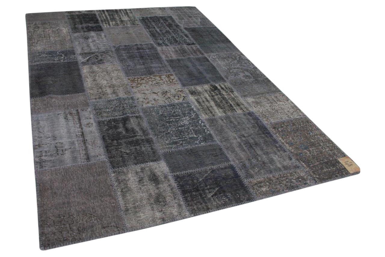 Grijs patchwork vloerkleed 307cm x 21ccm