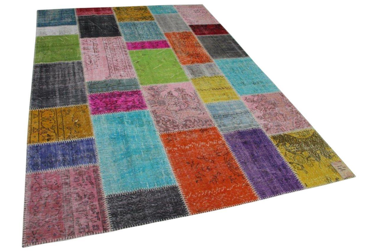patchwork vloerkleed diverse kleuren 300cm x 209cm