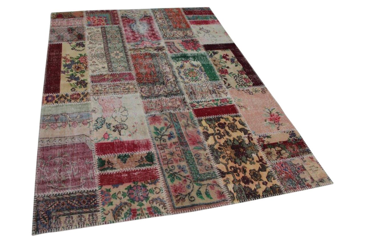 patchwork vloerkleed in diverse kleuren 245cm x 178cm