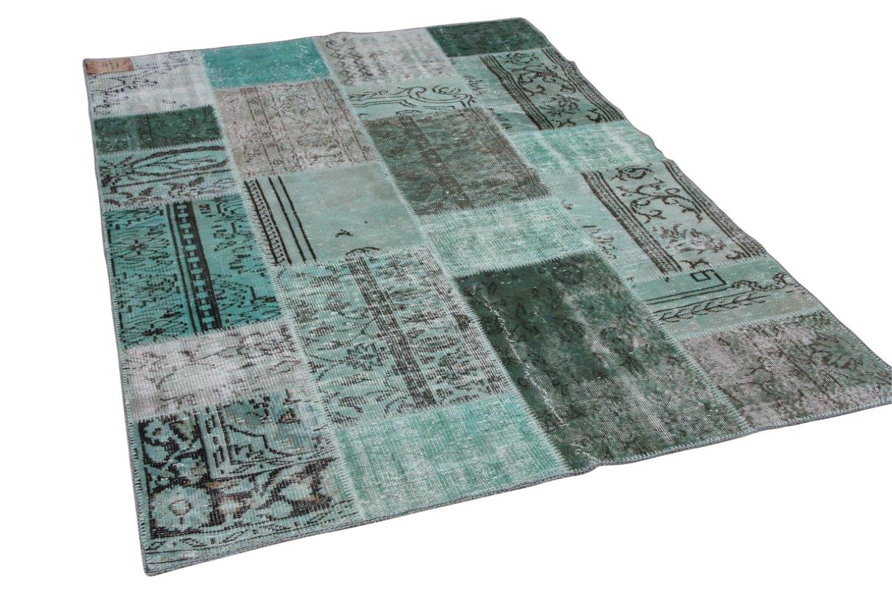 patchwork vloerkleed groen nr.20765 230cm x 161cm