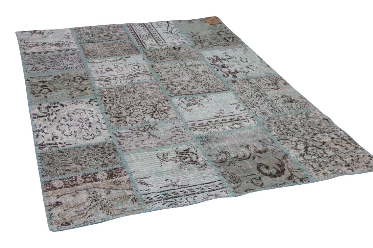 mintgroen patchwork vloerkleed 20792