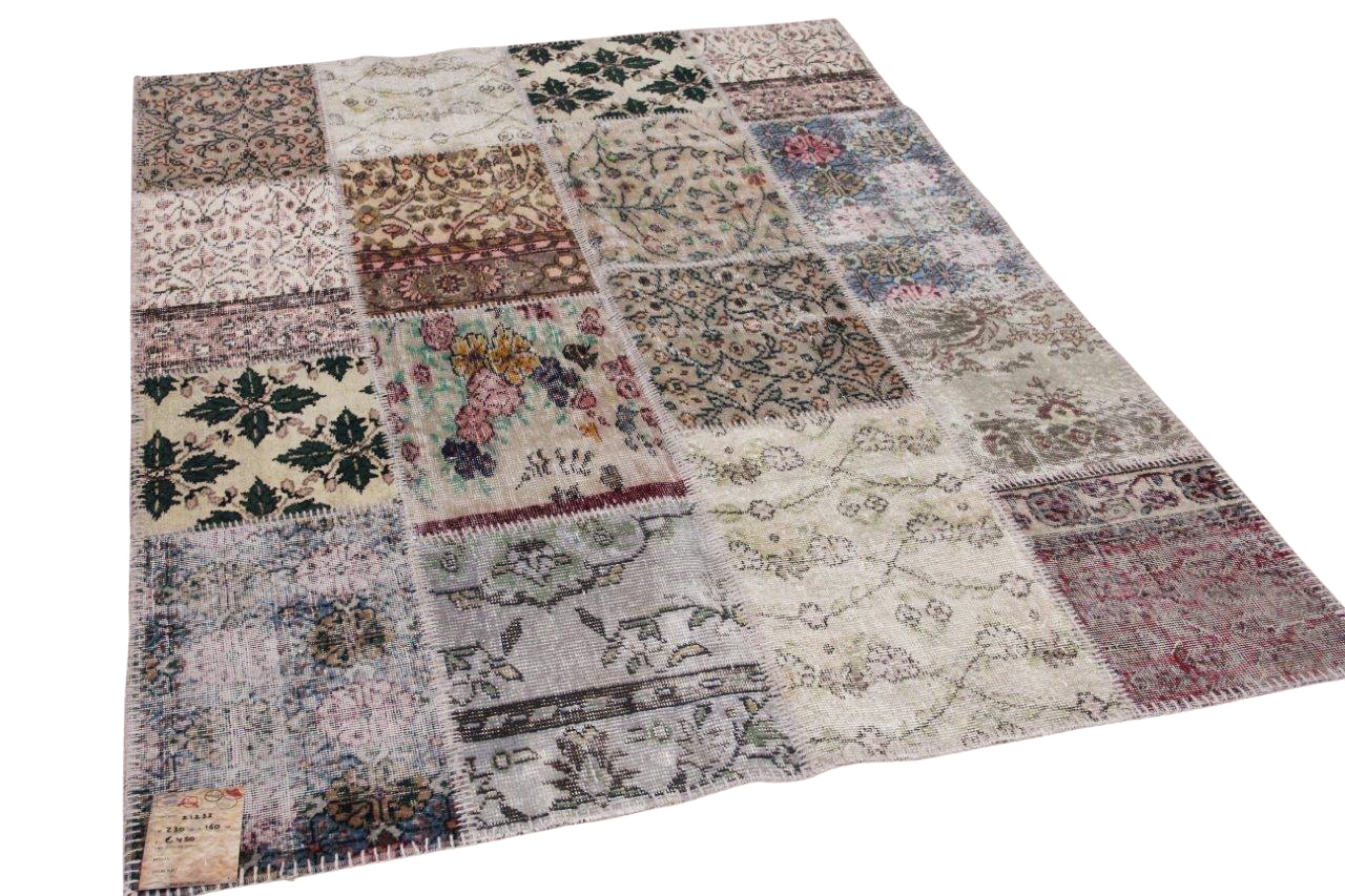 Patchwork vloerkleed diverse kleuren nr.21232 230cm x 160cm