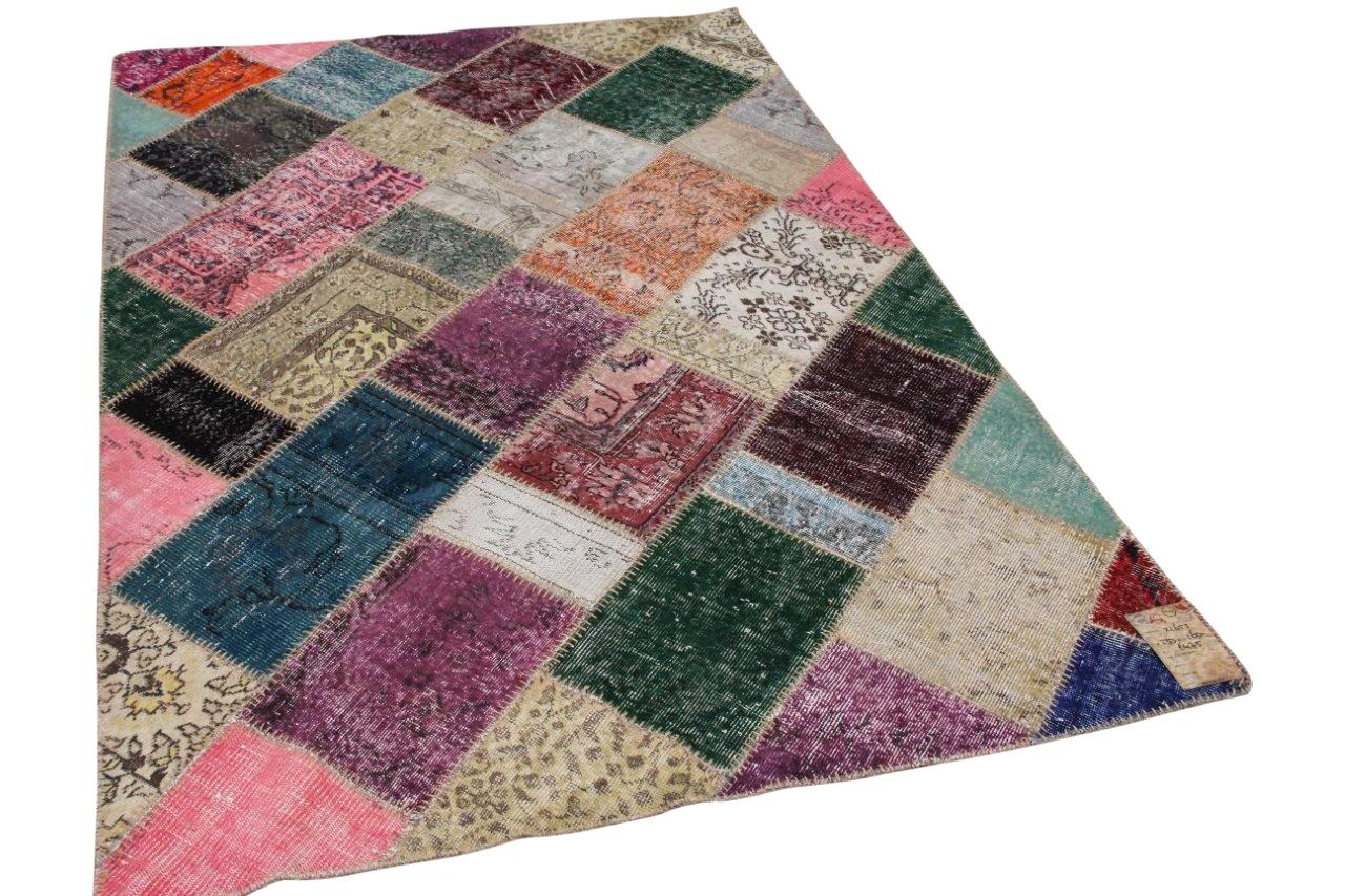 Patchwork vloerkleed diverse kleuren  233cm x 160cm