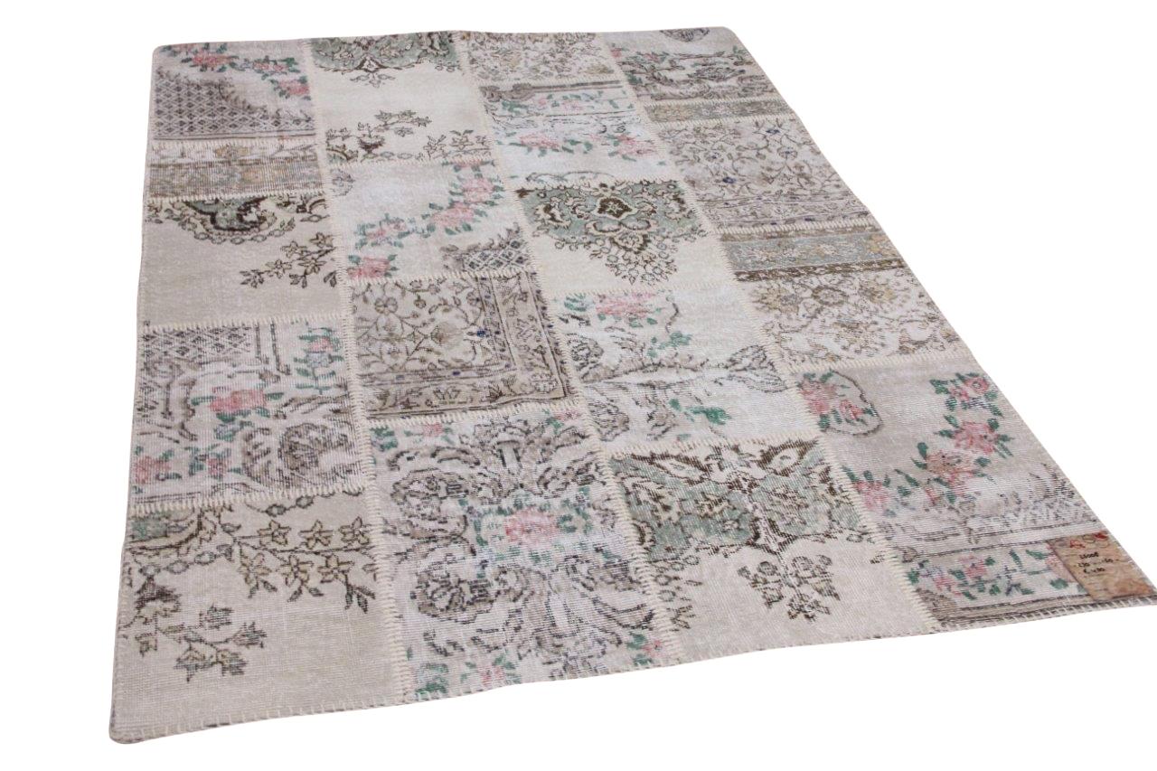 patchwork vloerkleed beige nr.25008 230cm x 160cm