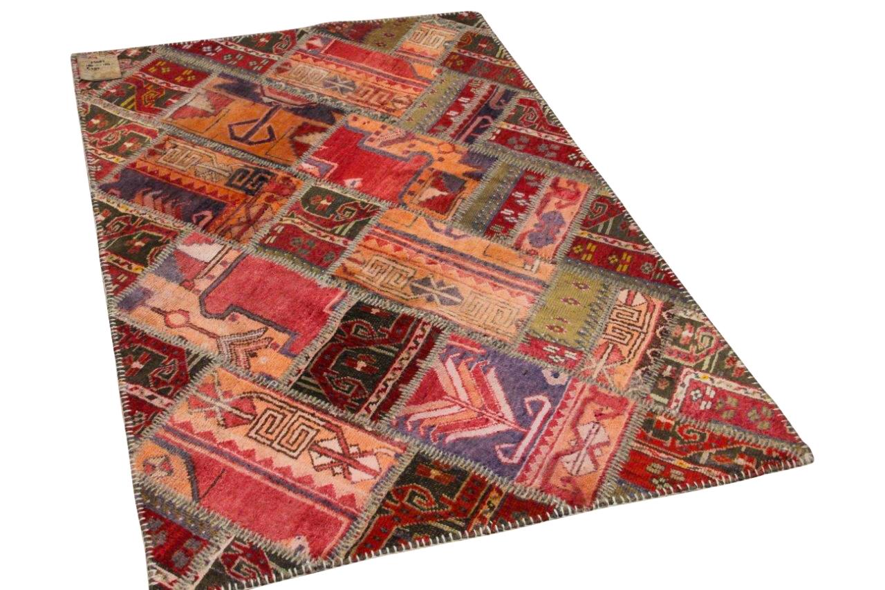patchwork vloerkleed rood 180cm x 120cm nr25087