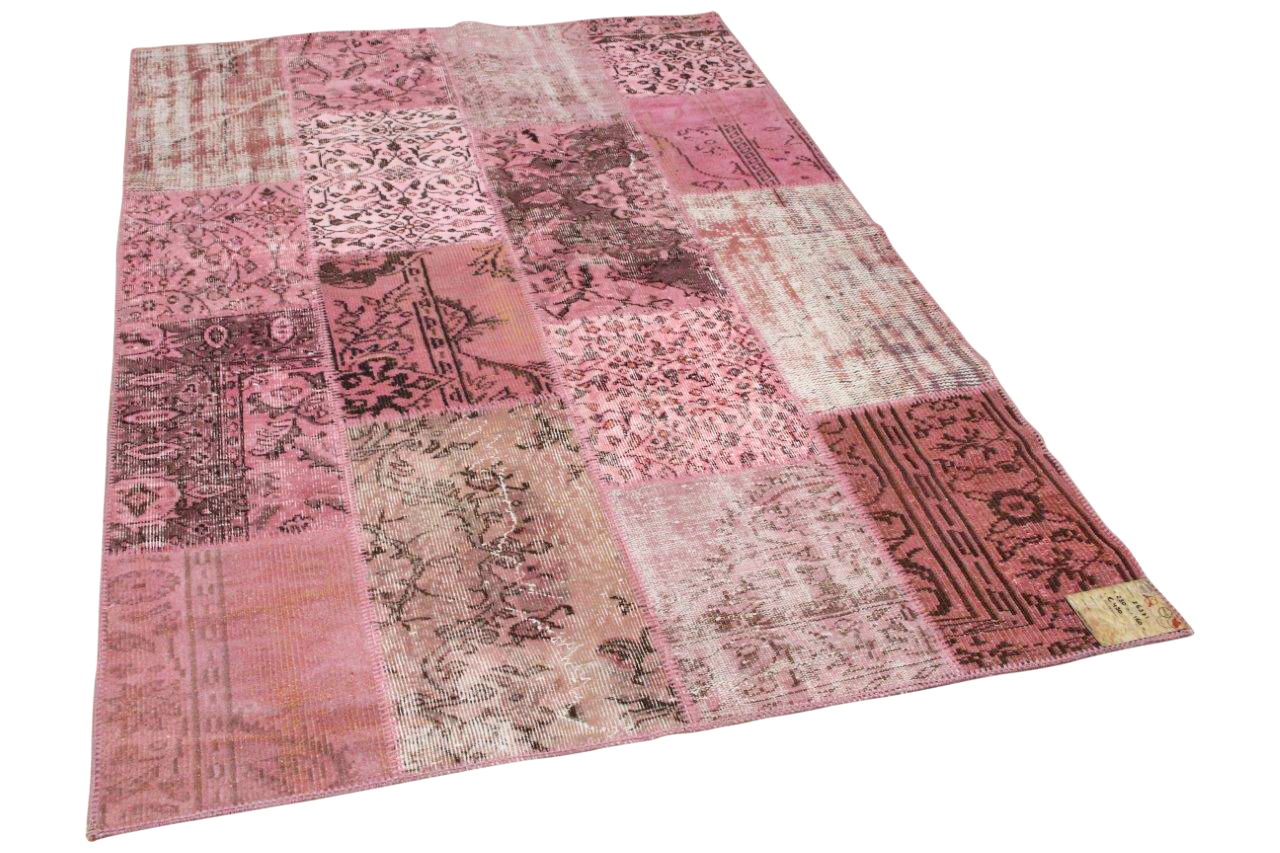 patchwork vloerkleed roze nr.26371 230cm x 160cm