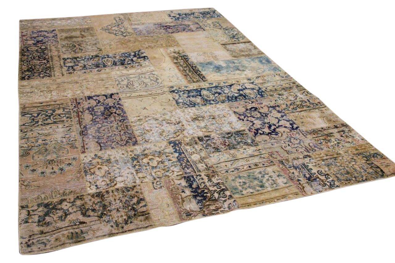patchwork vloerkleed gemaakt van perzische vloerkleden 314cm x 207cm