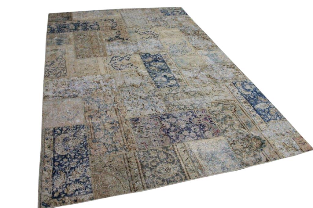 vintage patchwork vloerkleed 58441 313cm x 207cm