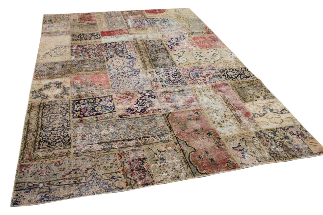 Patchwork vloerkleed gemaakt van perzische vloerkleden 314cm x 208cm