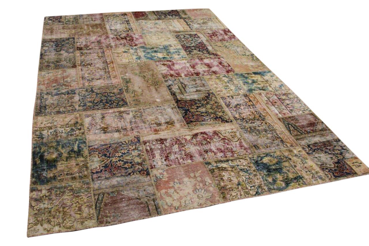 patchwork vloerkleed gemaakt van perzische vloerkleden 312cm x 208cm